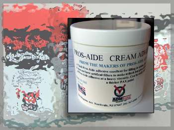 Pros-Aide® Cream adhesive does not contain any artificial fillers to make it thick yet has the properties of Pros-Aide® at heavy viscosity.